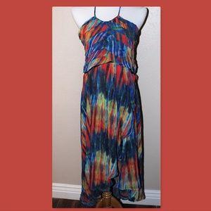 Miranda & Moca Large Rainbow Halter Dress